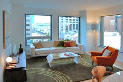 modern living room by w david seidel aia architect