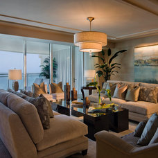 Contemporary Living Room by Crawford Interiors