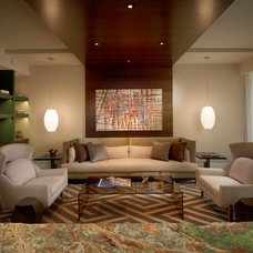 Eclectic Living Room by b+g design inc.