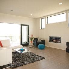Modern Living Room by Troxel Custom Homes