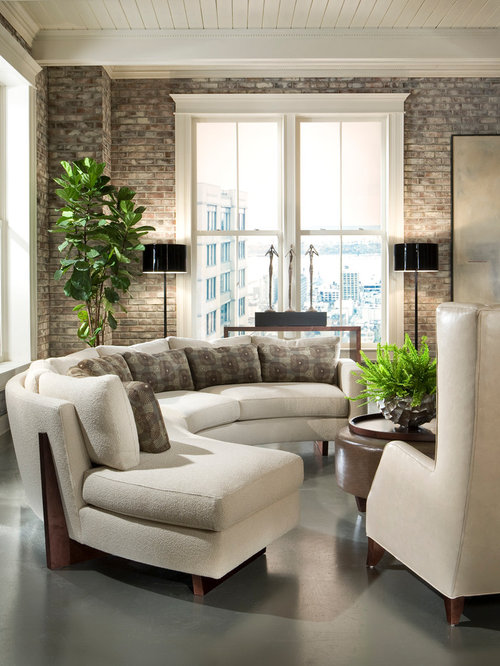 Example Of A Trendy Living Room Design In Other. Save Photo. Thayer Coggin