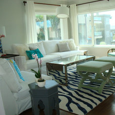 Beach Style Living Room by hudson home