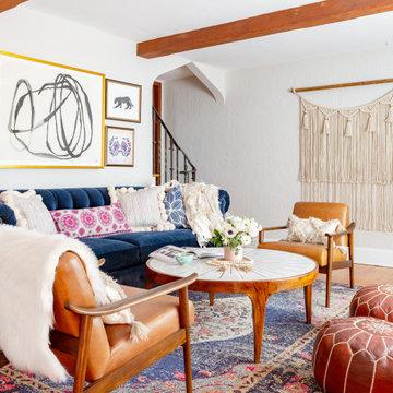 Modern Bohemian Tudor | Living Room