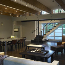 Modern Living Room by Burns and Beyerl Architects
