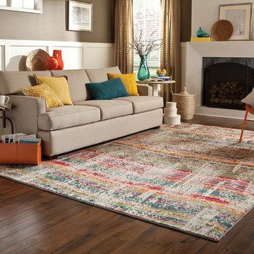 Modern Bright Colored Area Rug