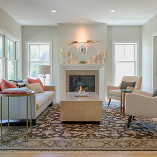 Living Room   Beach Style Open Concept And Formal Light Wood Floor Living  Room Idea In. Save Photo. Modern Cape Cod