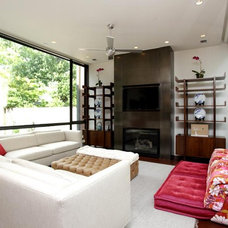 Contemporary Living Room by CB Cooper Construction