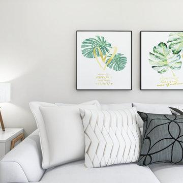 Modern Chic Living & Dining Room