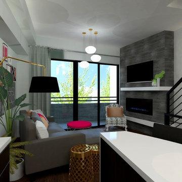 Modern Chic Townhouse Design