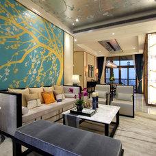 Asian Living Room by LAN&SD