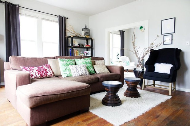 room of the day living room does a vintage meets modern balancing act