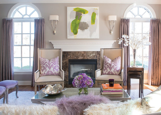 Traditional Living Room by Susan Glick Interiors
