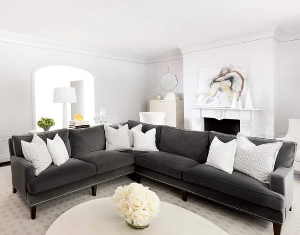 Transitional Living Room by MAS Design
