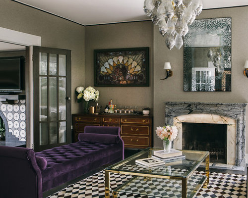 Transitional Enclosed And Formal Living Room Photo In San Francisco With Gray  Walls, A Standard