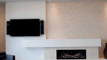 Modern Concrete Fireplace Surround