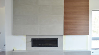Modern Concrete Fireplace Surround