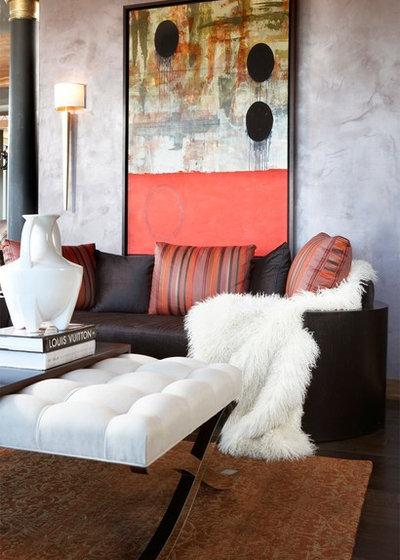 Modern Living Room by CIH Design