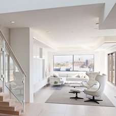 Contemporary Living Room by Angelini and Associates Architects