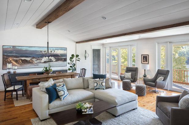 Beach Style Living Room by Ggem Design Co.