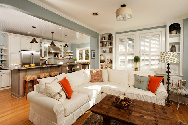 Eclectic Living Room by Harry Braswell Inc.
