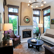 Transitional Living Room by Alison Whittaker Design, Inc.