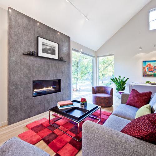 Houzz Living Room Fireplace: Shelf Above Fireplace