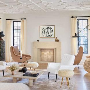 Modern Crescent Fireplace Mantel Styles