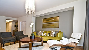 Modern Downtown Loft Living & Dining Room