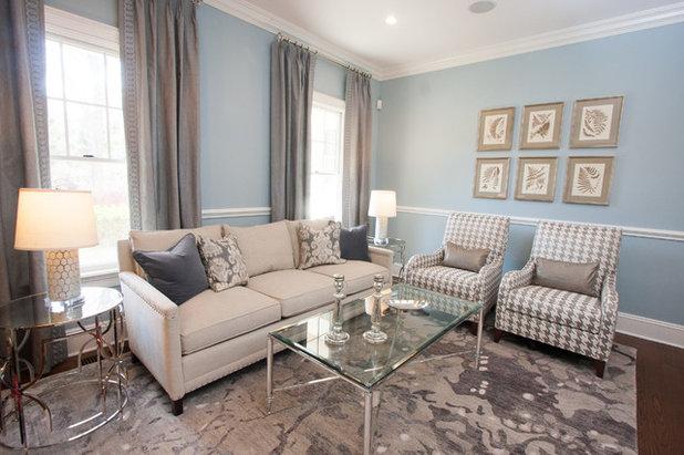 Transitional Living Room by Lisa Fero Interiors, LLC.