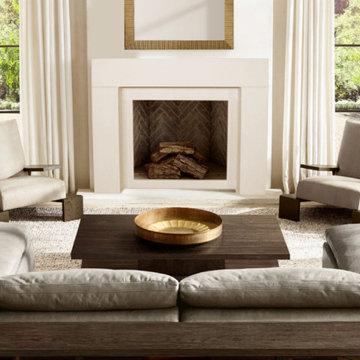 Modern Elemental Fireplace Mantel Styles