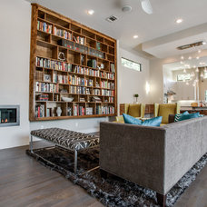 Contemporary Living Room by Bella Vita Custom Homes