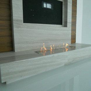 Modern Ethanol Fireplaces under TV