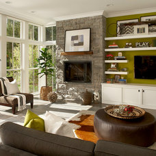 Farmhouse Living Room by Charles Vincent George Architects, Inc.