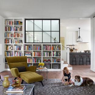 Modelo de biblioteca en casa campestre de tamaño medio
