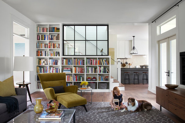 Farmhouse Living Room by Tim Cuppett Architects