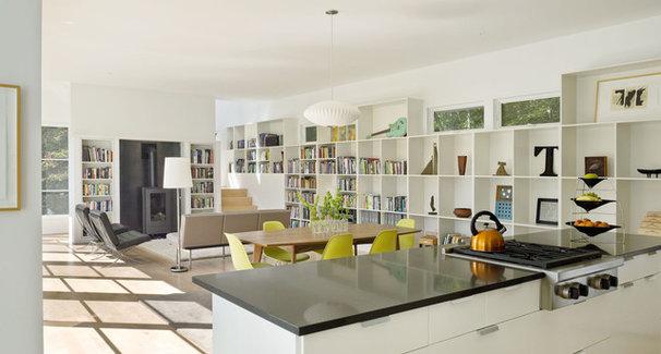 Farmhouse Living Room by TruexCullins Architecture + Interior Design