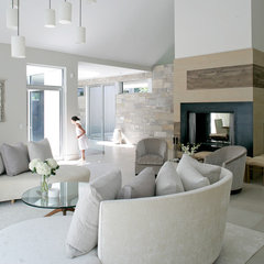 modern living room by Betty Wasserman