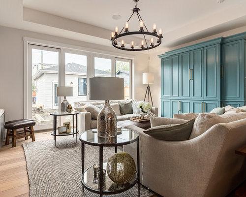 Landhausstil Wohnzimmer mit Kaminofen - Ideen, Design, Bilder ...