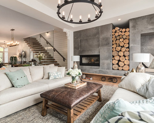 Marvelous Inspiration For A Large Farmhouse Open Concept Light Wood Floor And Beige  Floor Living Room Remodel Part 32