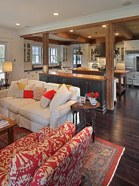 Red And Beige Living Room Design Ideas Remodels Photos Houzz