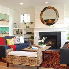 eclectic living room by Judith Balis