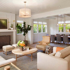 Farmhouse Living Room by Modern Organic Interiors