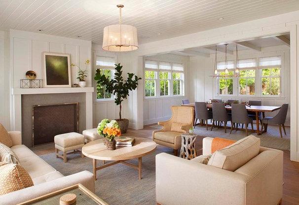 Farmhouse Living Room by Modern Organic Interiors