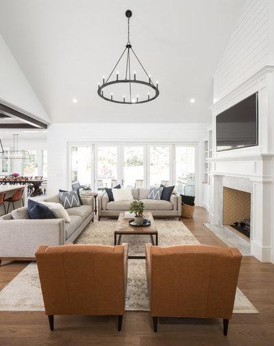 Farmhouse Living Room by The Fox Group