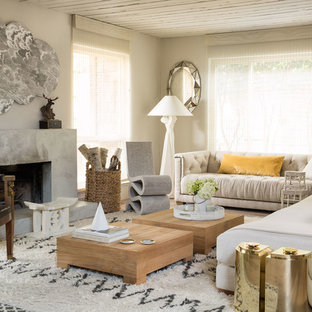 Inspiration For A Transitional Formal Living Room Remodel In San Francisco  With Beige Walls And A