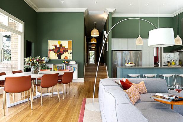 Transitional Living Room By Brett Mickan Interior Design