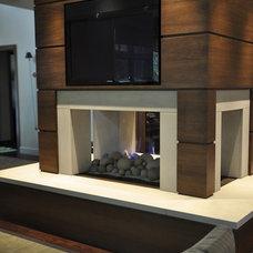 Modern Living Room by Fireplace Design Center