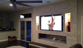 Modern fireplace, private residence Las Vegas