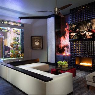 Modern Fish Tanks Living Room Ideas Photos Houzz