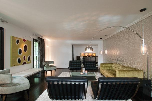 Modern Living Room by Burns Century Interior Design